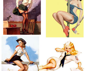 girls, sexy, and Pin Up image