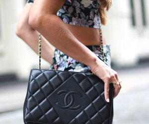 bag, brunette, and clothes image