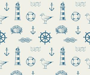 anchor, minimalist, and bird image
