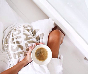 coffee, morning, and white image