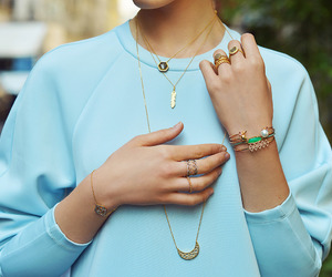 blue, girl, and fashion image