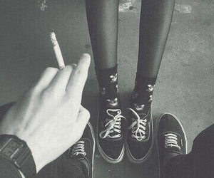 smoke, cigarette, and grunge image