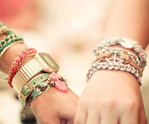 bracelet, watch, and peace image