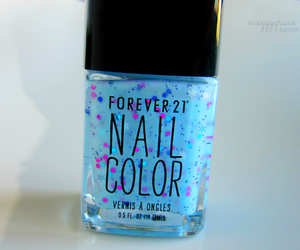 nails, blue, and forever 21 image