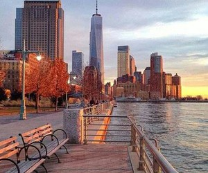 city, new york, and skyscraper image