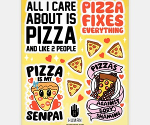 feminism, kawaii, and pizza image