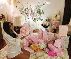 pink, gift, and baby image