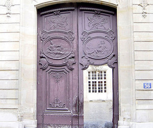 door, france, and paris image