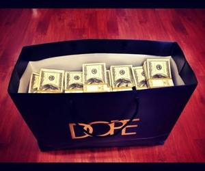 money, dope, and dollar image