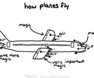 airplane, Flying, and magic image