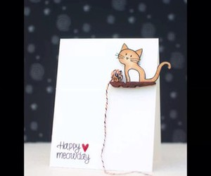 card, cat, and diy image