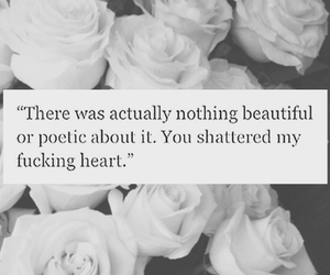 quote, heart, and pain image