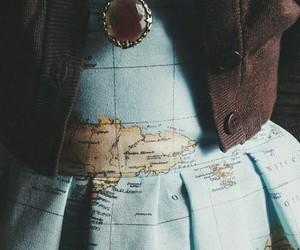 dress, map, and world image