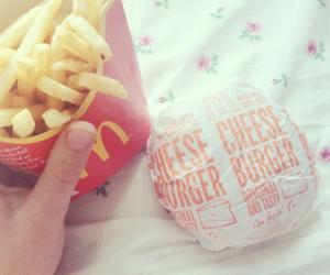 food, burger, and love image
