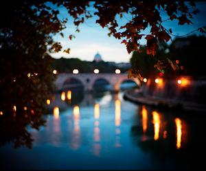 light, bridge, and river image
