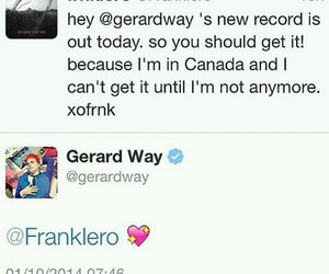 bands, bromance, and frank iero image