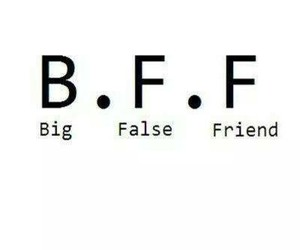 false, bff, and friends image
