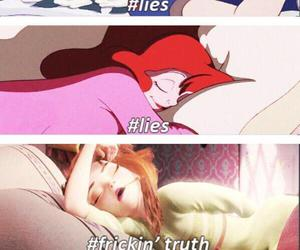 disney, frozen, and lies image