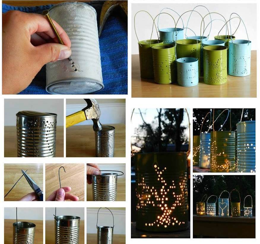 Creative Ideas - DIY Cute Tin Can Lanterns | iCreativeIdeas.com