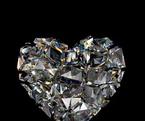 heart, diamond, and wallpaper image