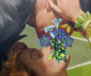 Collage, flowers, and hug image