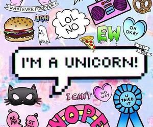 unicorn, cool, and pink image