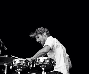 black and white, drums, and foster the people image