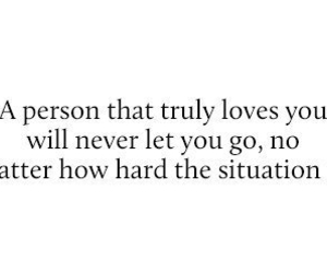 never let go, true love, and the right person image