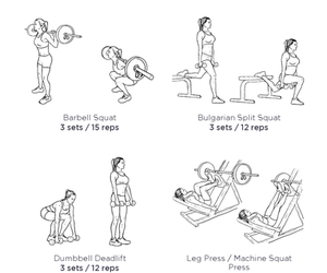 routine, women, and workout image