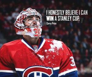 canadian, hockey, and carey price image
