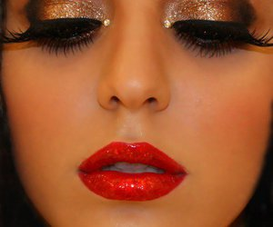 makeup, make up, and red image