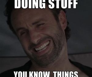 zombie, the walking dead, and rick grimes image