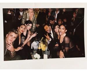 justin bieber, kim kardashian, and kendall jenner image