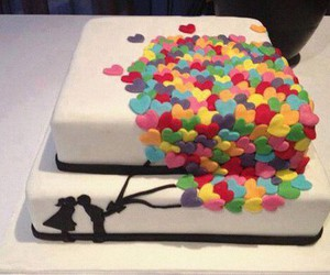 cake, love, and couple image