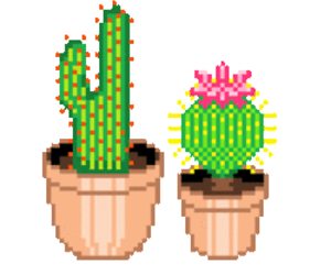pixel, cactus, and plants image