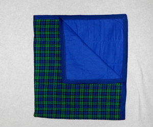 blue, neutral, and plaid image