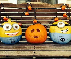Halloween, minion, and october image
