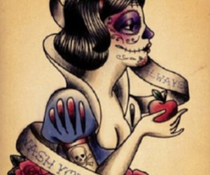 snow white, tattoo, and disney image
