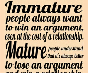 immature, mature, and Relationship image