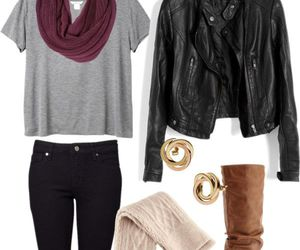 outfit, fall, and boots image