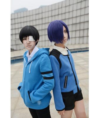 Tokyo Ghoul Ken Kaneki And Touka Blue Hoodie Cosplay Costume