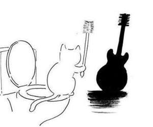 cat and guitar image