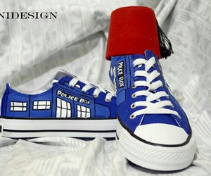 converse, custom shoes, and doctor who image