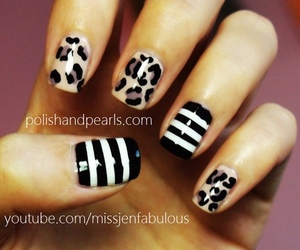 leopard, nail art, and nails image