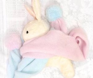 katie, pink, and rabbit image