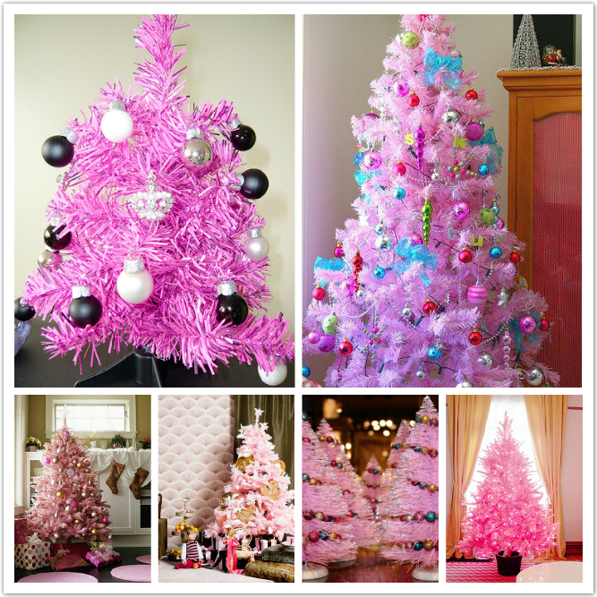 Beautifully Decorated Christmas Trees To Your Home: Pink Christmas Tree  Decorating Nice Idea With Colorful Lamps Cool Design To Your Home Decoration  ~ ...