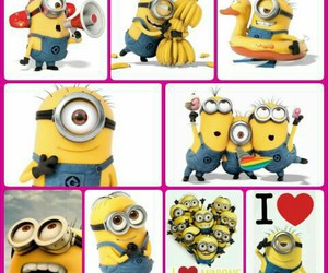 minions, despicable me, and love image
