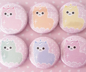 cute, kawaii, and alpaca image