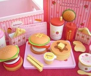 cute, pink, and hamburger image
