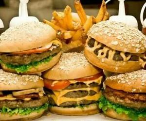 food, hamburguesa, and comida image